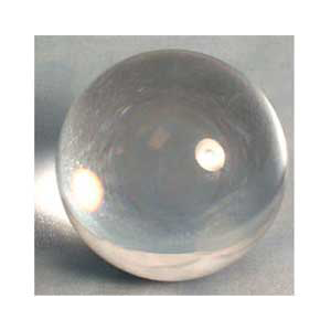 Clear crystal ball 125 mm