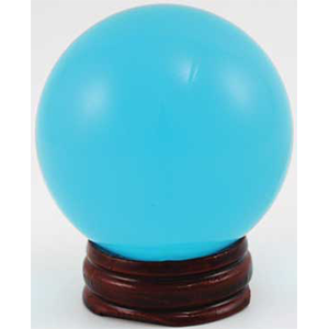 Aqua crystal ball 50 mm - Wiccan Place