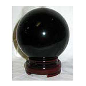 Black crystal ball 50mm - Wiccan Place