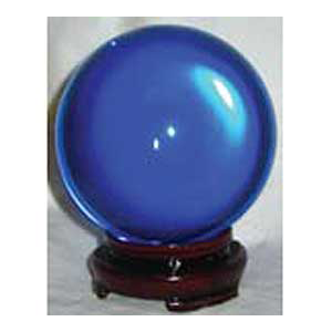 Blue crystal ball 50mm - Wiccan Place