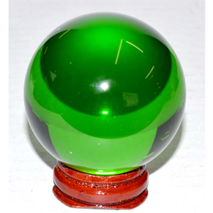 Green crystal ball 50 mm - Wiccan Place