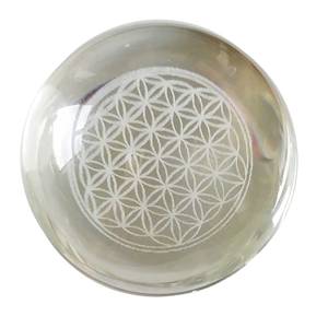 Flower of Life gazing ball 55mm - Wiccan Place