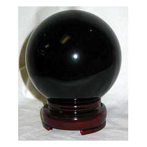 Black crystal ball 80 mm - Wiccan Place