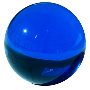 Blue gazing ball 80 mm - Wiccan Place