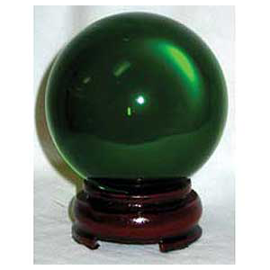 Green crystal ball 80 mm - Wiccan Place