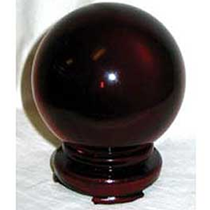 Red Gazing Ball 80 mm - Wiccan Place