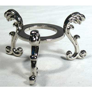 Silver Plated Flower crystal ball stand - Wiccan Place