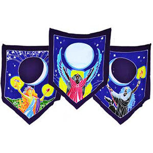 Triple Moon Goddess Prayer Flags 60
