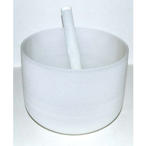 Off White Crystal Singing Bowl 10""