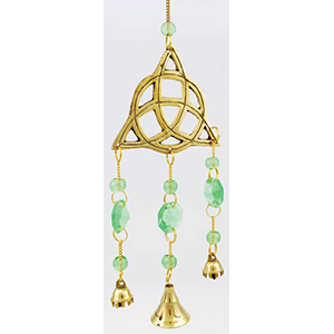 Brass Triquetra wind chime - Wiccan Place