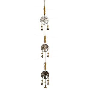 3 Tree of Life brass wind chime 29