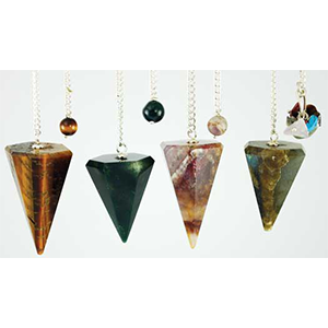 Assorted Faceted 6 side pendulum - Wiccan Place