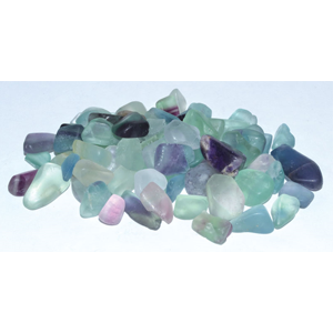 Fluorite tumbled chips 7-9mm, 1 lb