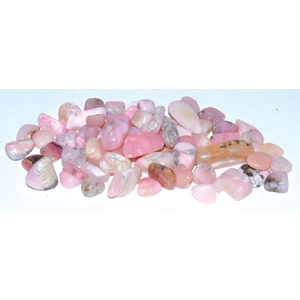 Opal, Pink tumbled chips 7-9mm, 1 lb