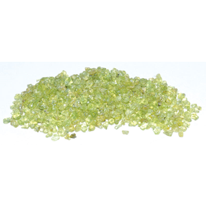 Peridot tumbled chips 2-4 mm, 1 lb