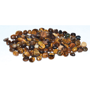 Tiger Eye tumbled chips 5-7 mm, 1 lb - Wiccan Place