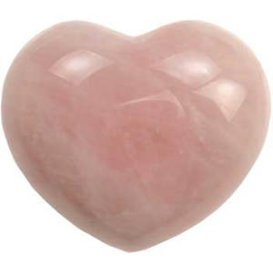 Rose Quartz heart 1 3/4""