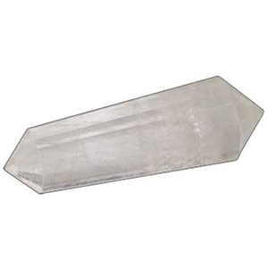 "Double Terminated Quartz Point 2"" 16 faceted - Wiccan Place"
