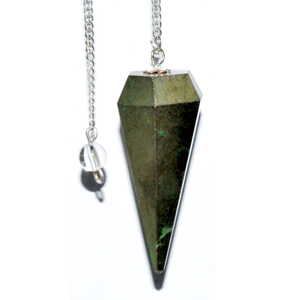 Pyrite 6-sided pendulum - Wiccan Place