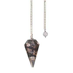 Tourmaline Orgone 6-sided pendulum - Wiccan Place