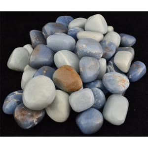 Angelite tumbled stones 1 lb - Wiccan Place