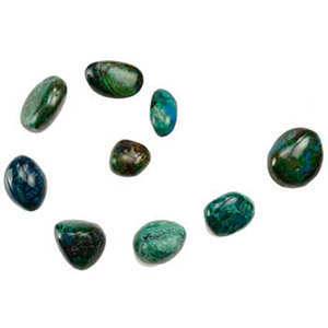 Chrysocolla tumbled stones 1 lb - Wiccan Place