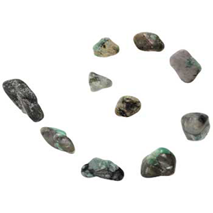 Emerald tumbled stones - Wiccan Place