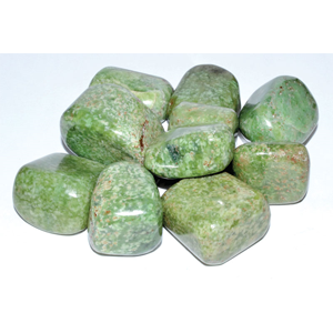 Grossularite (green garnet) tumbled stones 1 lb - Wiccan Place