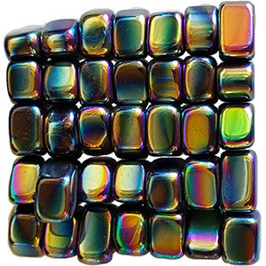 Magnetic Hematite Rainbow tumbled stones 1 lb - Wiccan Place