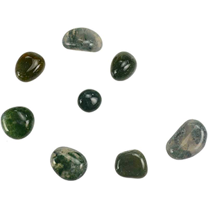Moss Agate tumbled stones 1 lb - Wiccan Place