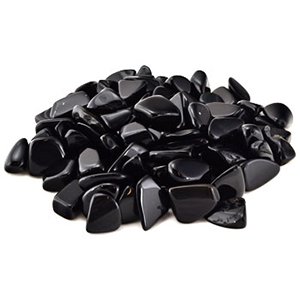 Black Obsidian tumbled stones 1 lb - Wiccan Place