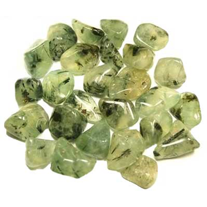 Prehnite with Epidote tumbled stones 1 lb