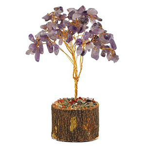 Amethyst gemstone tree 160 beads - Wiccan Place