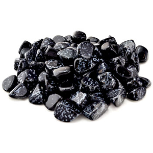 Snow Flake Obsidian tumbled stones 1 lb - Wiccan Place