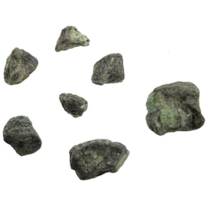 Emerald untumbled stones 1 lb - Wiccan Place
