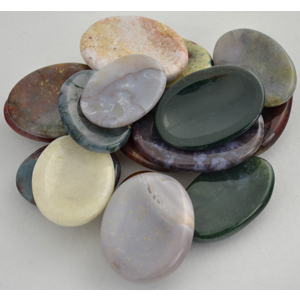 Jasper Worry stone - various Colors & Patterns - Wiccan Place