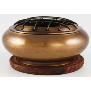 Brass Screen incense burner - Wiccan Place
