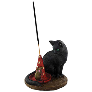 Magical Cat & Mouse  Holder - Wiccan Place