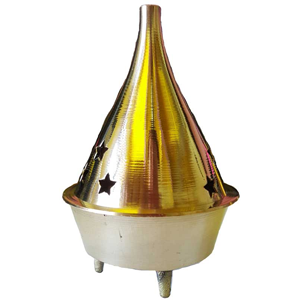 Brass cone and Resin incense Burner 3""