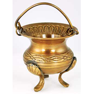 "Celtic Brass Cauldron 3"" - Wiccan Place"