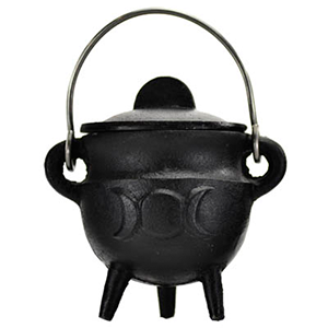 Triple Moon cast iron cauldron w/ lid 2 3/4