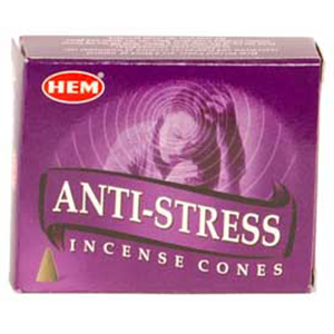 Anti-Stress HEM Incense Cones 10 pack - Wiccan Place