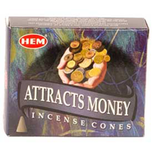 Attracts Money HEM Incense Cones 10 pack - Wiccan Place