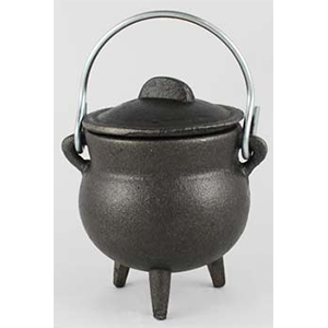 "Plain Cast Iron Cauldron 3"" - Wiccan Place"