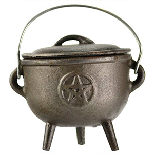 Pentagram cast iron cauldron 4