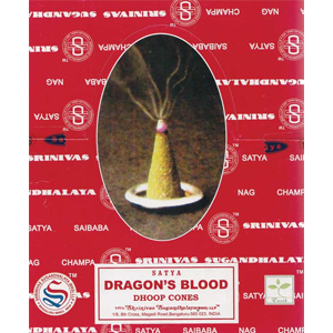 Dragon's Blood dhoop Satya Cone Incense (12/pk) - Wiccan Place