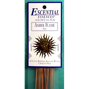 Amber Flame Stick Incense 16 pack - Wiccan Place