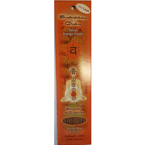 Svadhisthana ( Sacral Chakra ) incense stick 10 pack - Wiccan Place