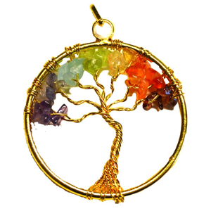 7 Chakra Tree of Life pendant - Wiccan Place