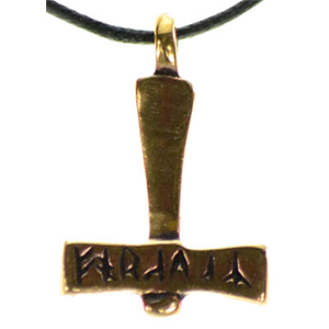 Bronze Thor's Hammer Necklace - Wiccan Place